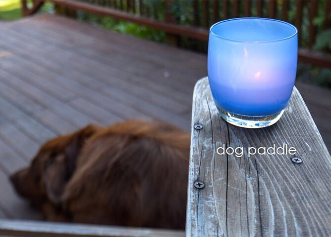 Glassybaby's new color, Dog Paddle. Photo from glassybaby.