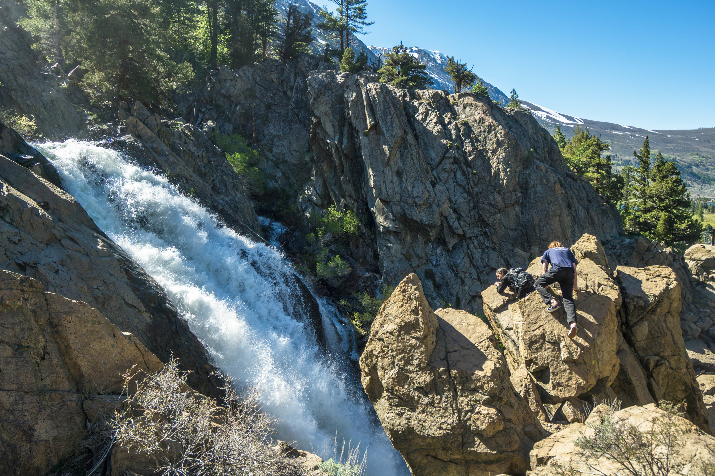As we approach the end of our hike, we take one final peak at the last cascade.