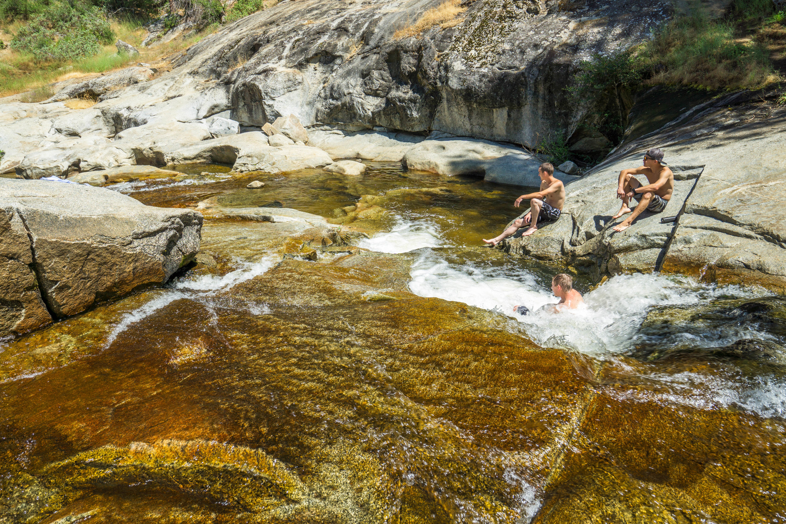 Interspersed deep pools provided a jacuzzi sized tub of refreshing mountain water.
