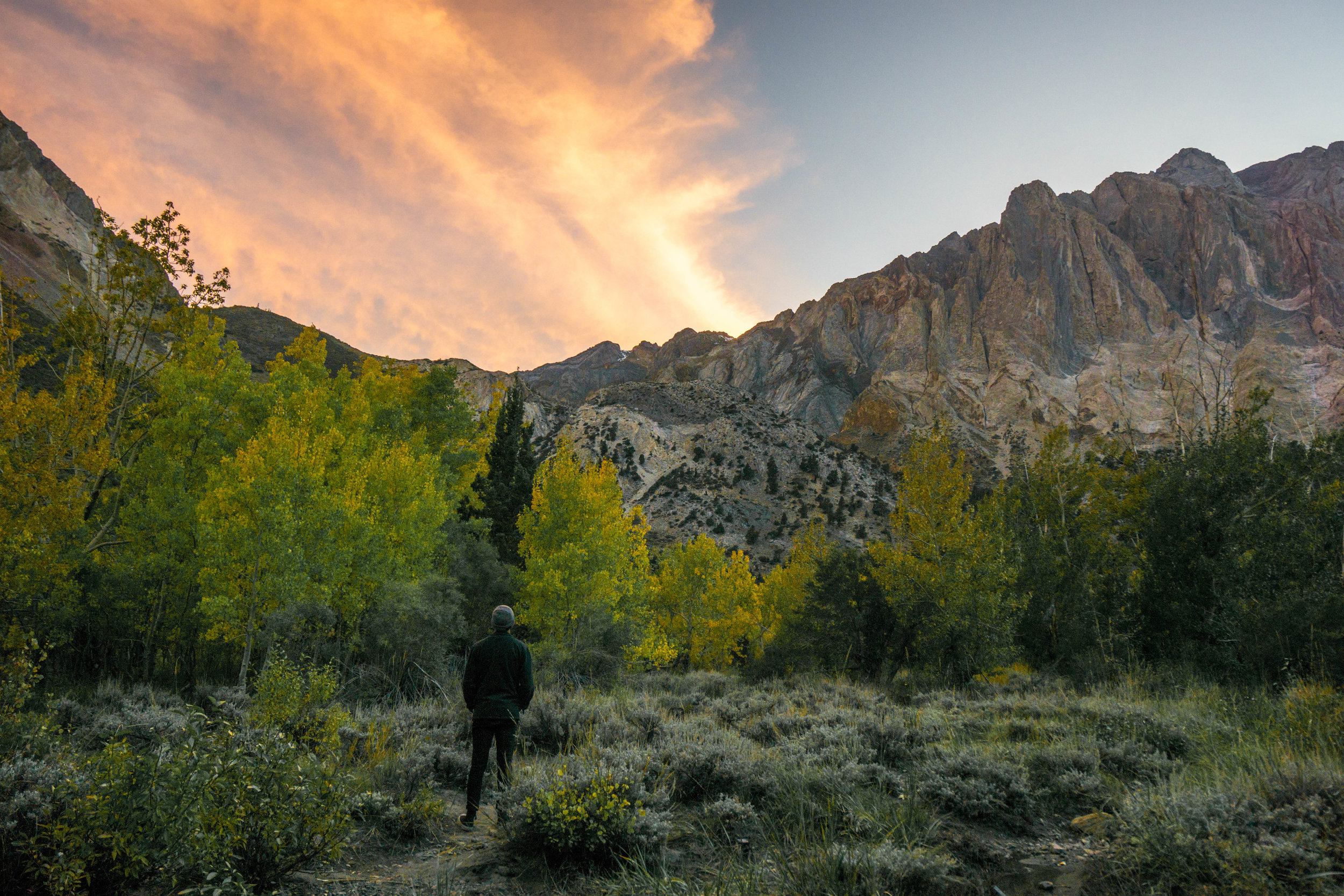 On our way back to camp we stop by a granite canyon for the tail-end of sunset. Wasn't much later when we hopped in our tent, worn out from the day's misadventures.