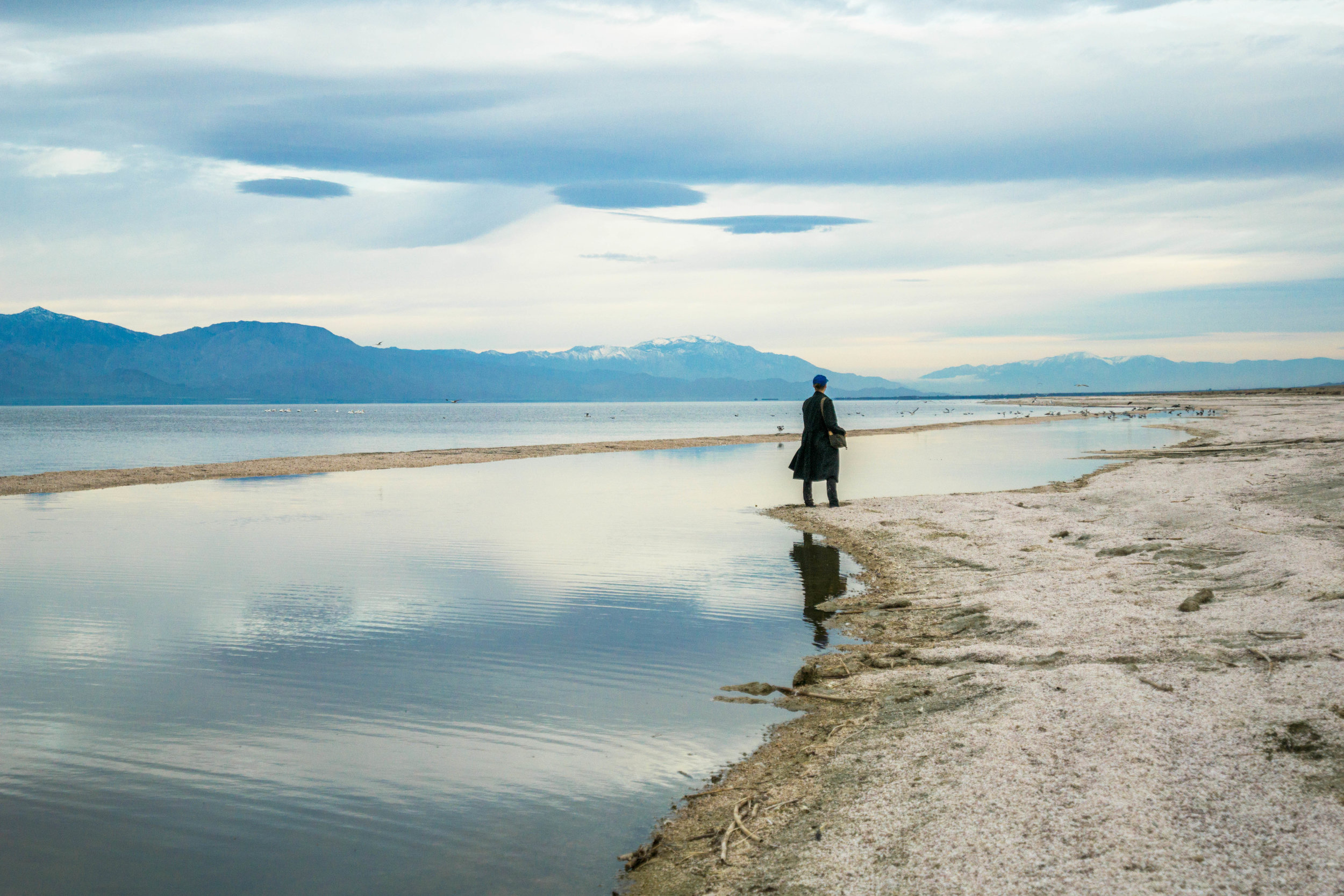 At a whopping 35 miles long & 15 miles wide, one cannot see the entire body of the Salton from the ground level.
