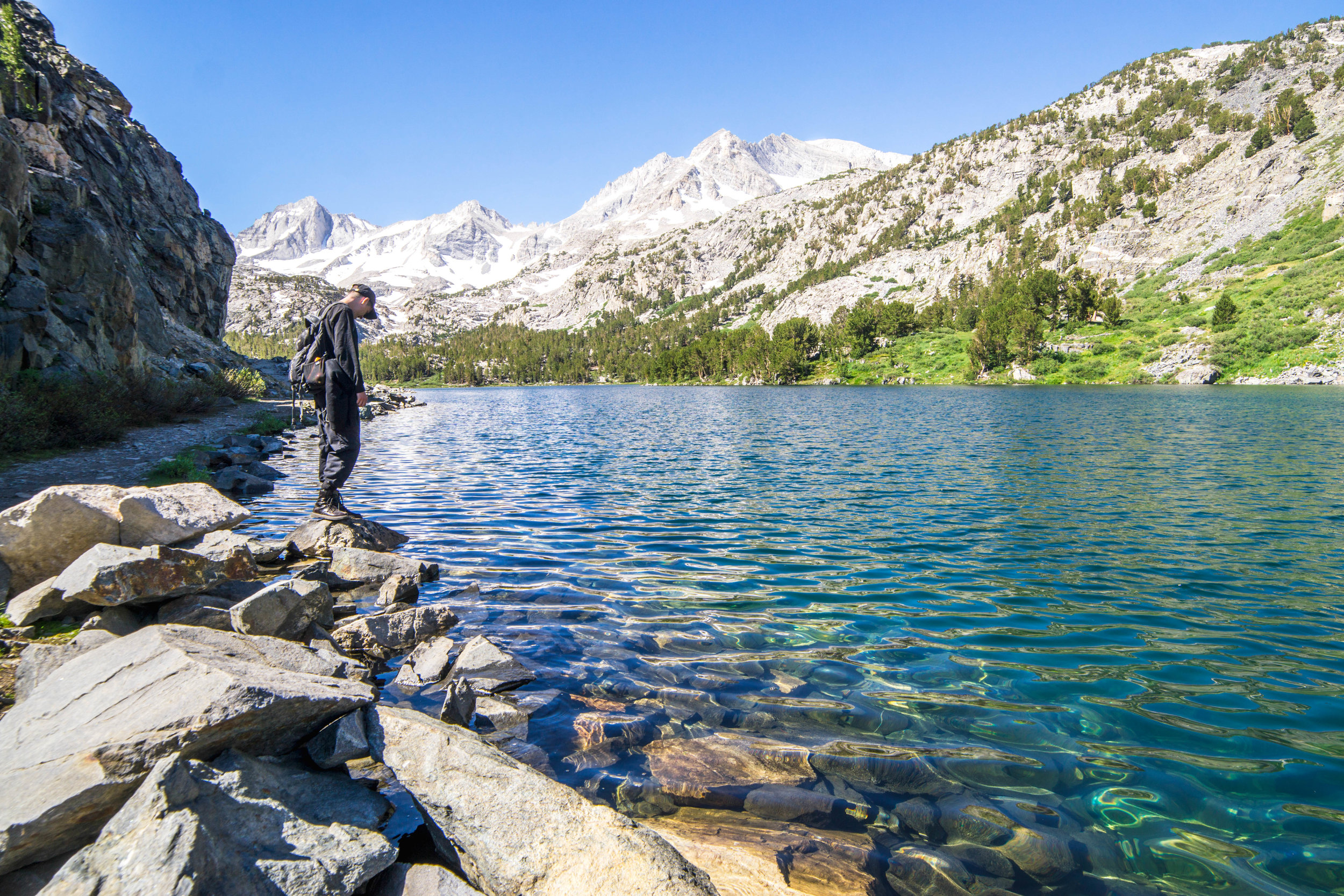 This trail extends deep into the Sierras, affording an escape from the more crowded day hiking trails. Not this trip, but another we'll be back to explore the possibilities even further.