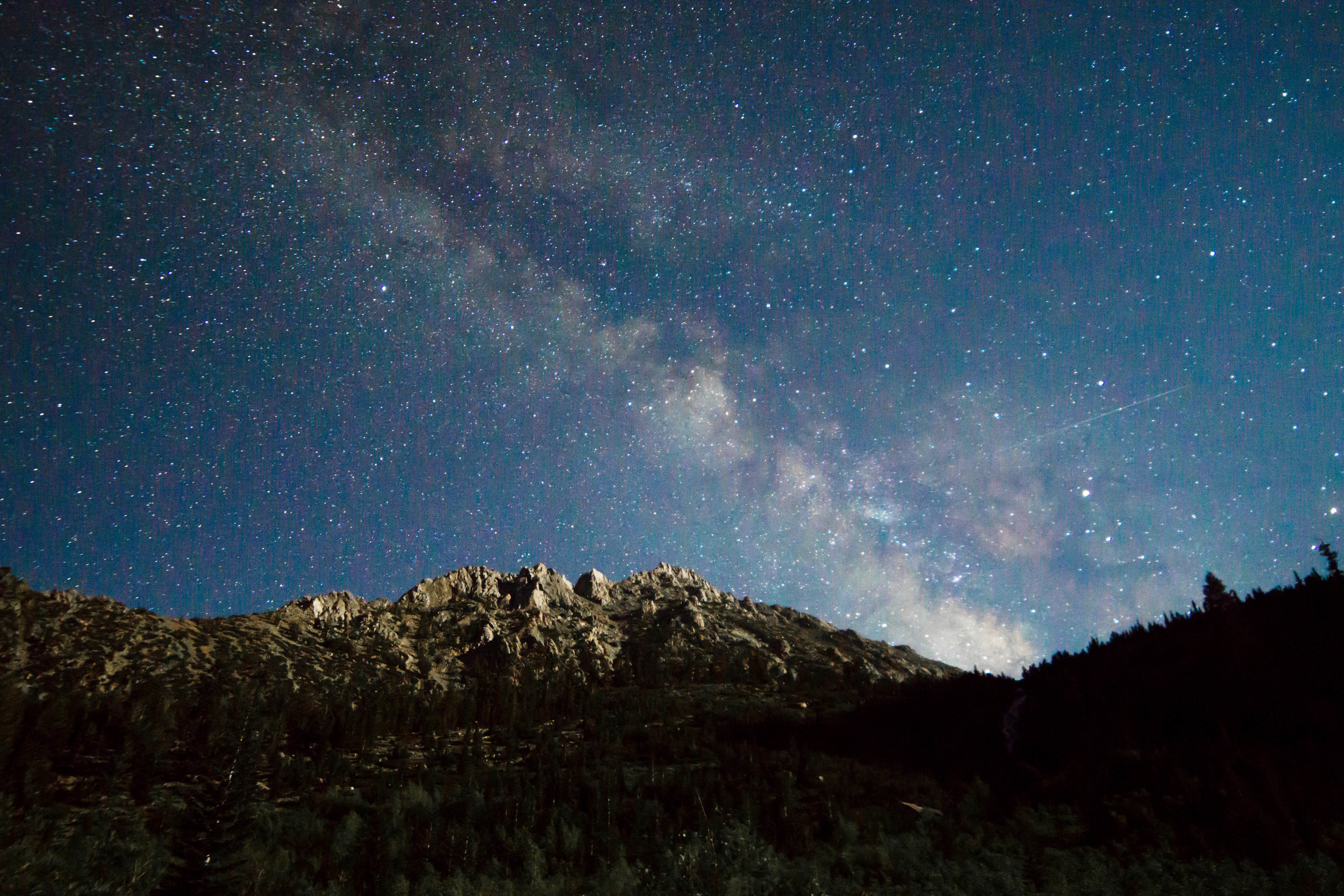 Summer stargazing provides the best viewing of the stars, since the core of the milky way shimmers nightly..
