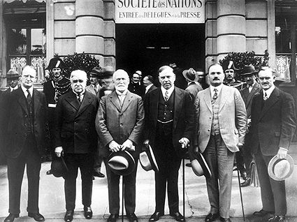 Formation of the League of Nations (today the U.N.) changed the world forever.