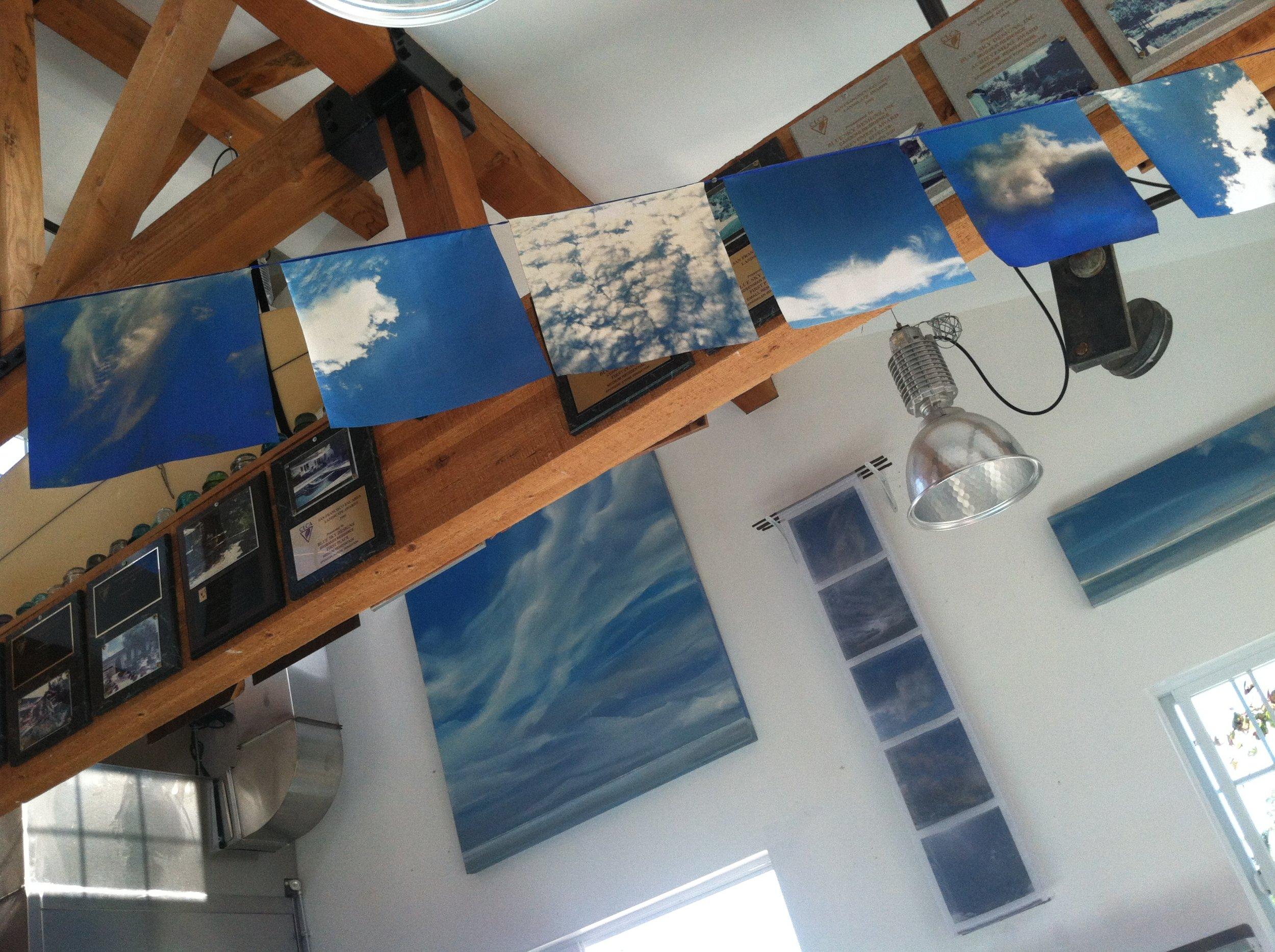 Blue Ssky flag show at Blue Sky Cafe, HMB, CA