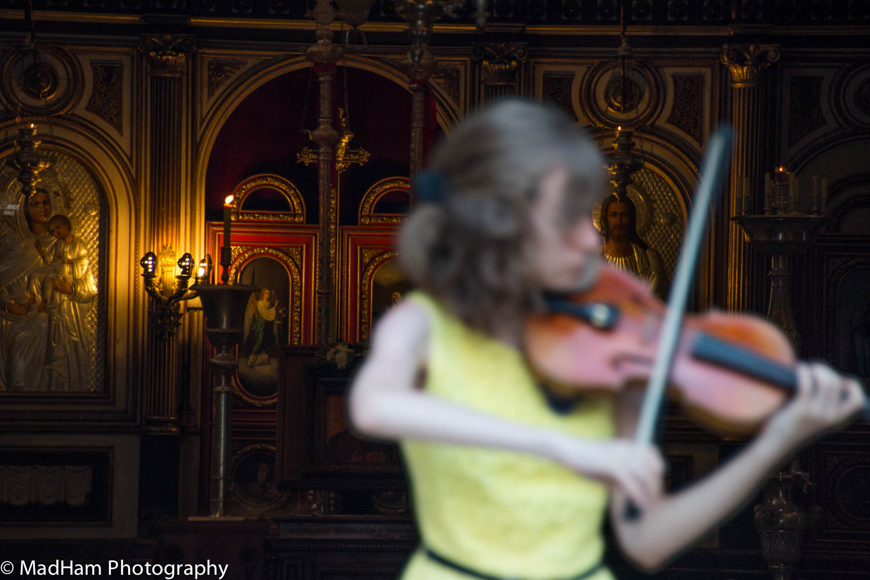 Blurred Violinist