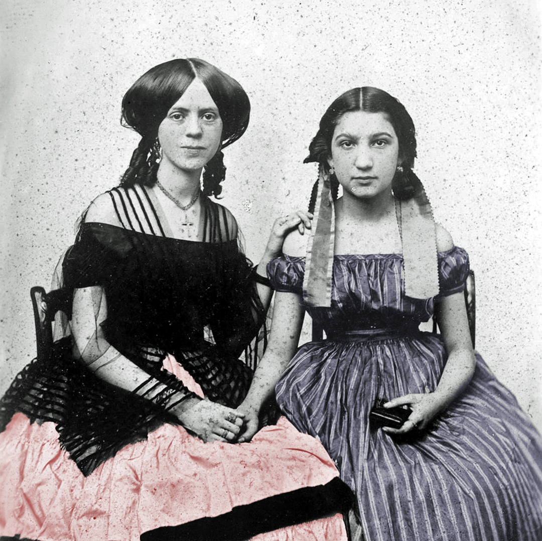 Maria de Jesus Wilson and Medora Hereford.   Medora (right) was the sister of the second wife of Benjamin Davis Wilson. Maria was Wilson's daughter by his first wife, Ramona Yorba. Both Maria and Medora were aboard the  Ada Hancock . Photograph courtesy of the B. D. Wilson Family Collection, Huntington Library