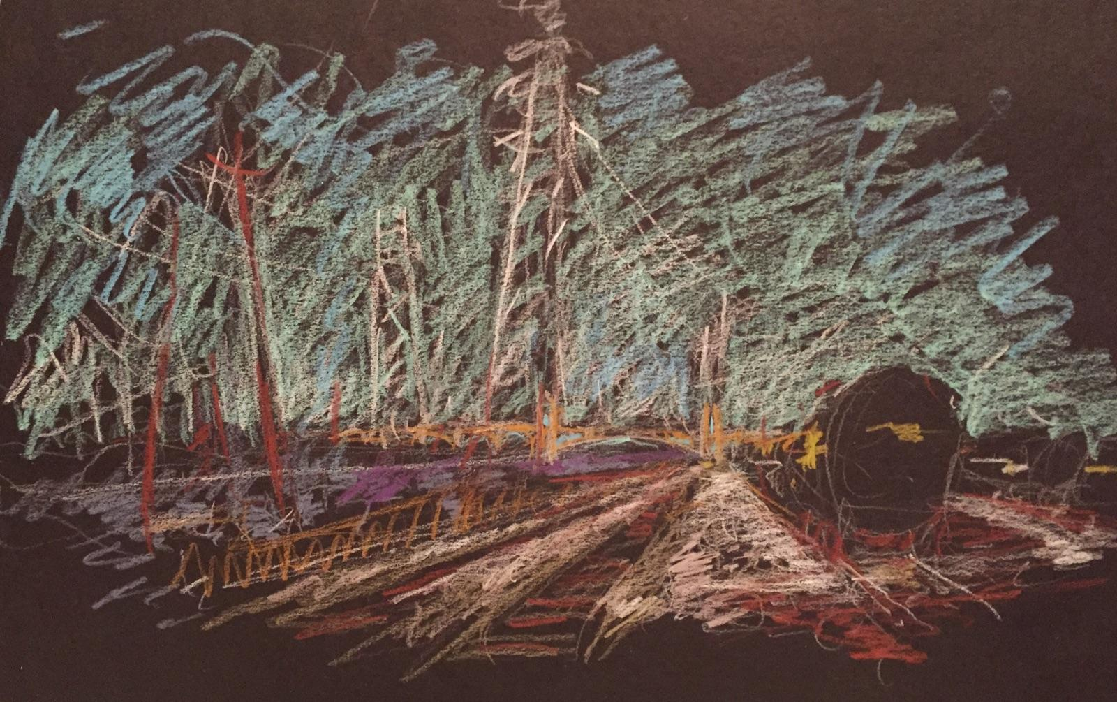 "Study for ""4th Street Bridge."" Roderick Smith, 2017"