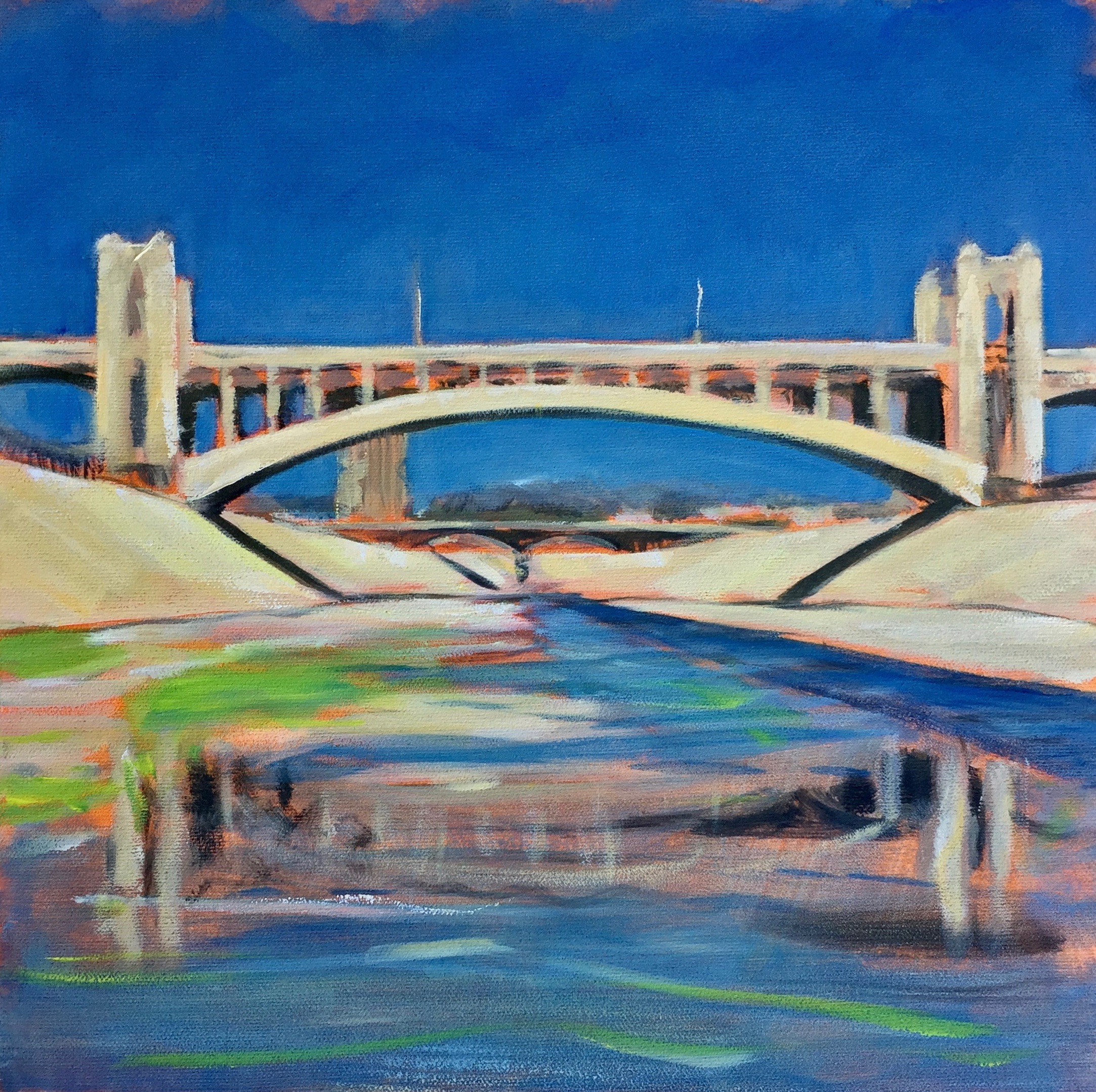 "Study for ""4th Street Bridge,"" Richard Willson, 2017"