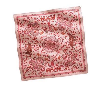 Hermes silk twill scarf