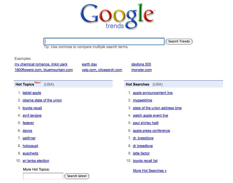 Google trends Apple