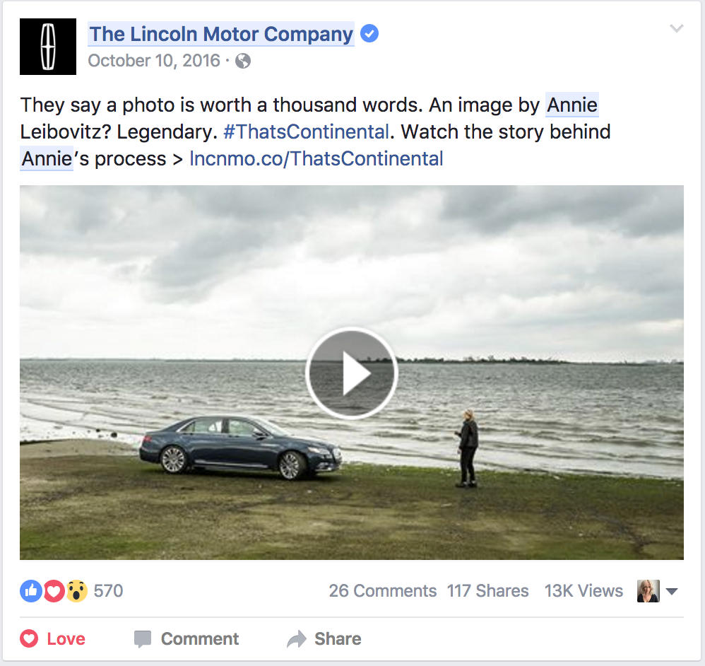Example of a Facebook ad unit used to target a more niche HNWI + Photography Enthusiast audience