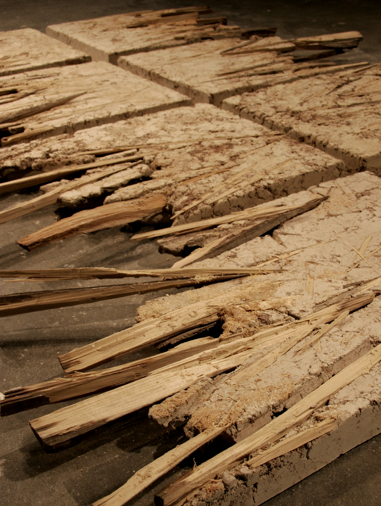 Unfired clay, wood    SAIC Chicago, 2006