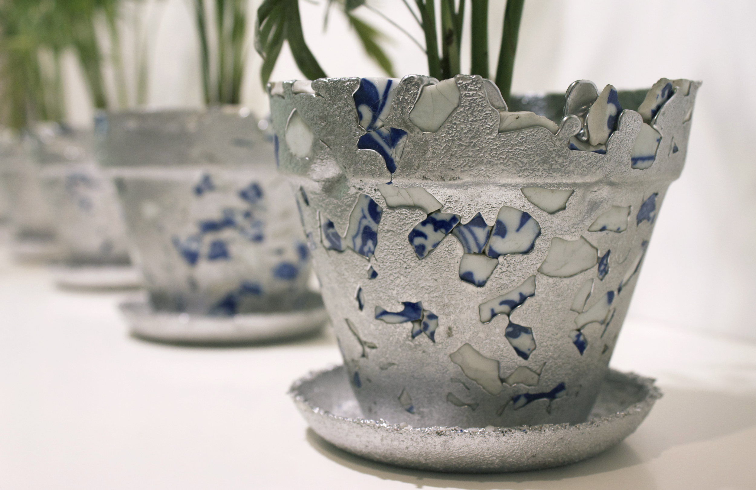 Recycled Aluminum, Factory Discarded Porcelain