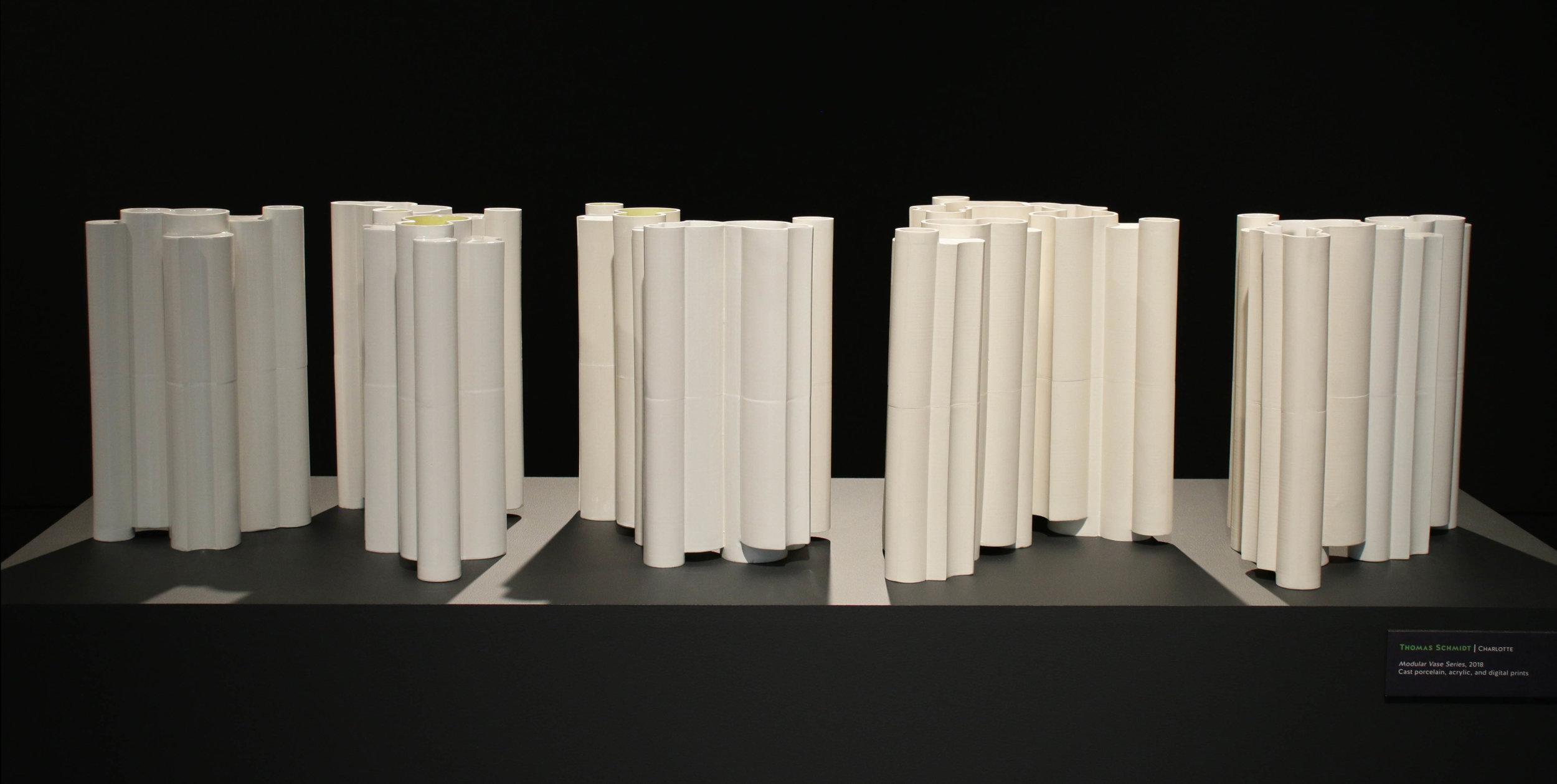 """cast porcelain, Individual pieces 12""""h x 8""""w x 6""""d,  2018"""