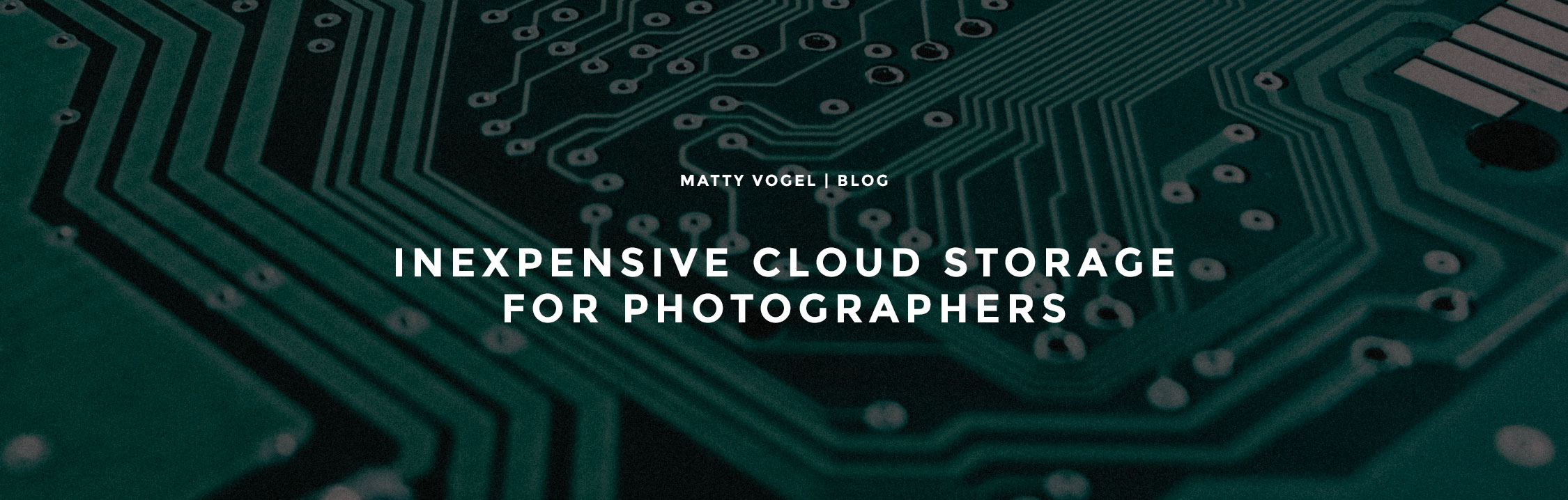 Cloud Storage for Photographers | Amazon Drive and odrive | Matty Vogel