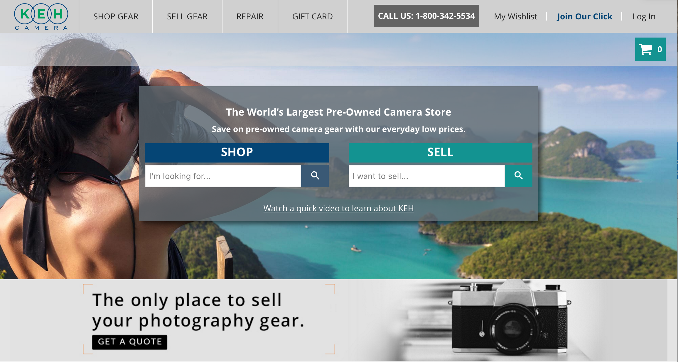 Selling Used Cameras and Lenses Online | KEH
