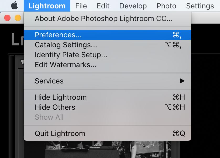 Adobe Lightroom export preset for social media