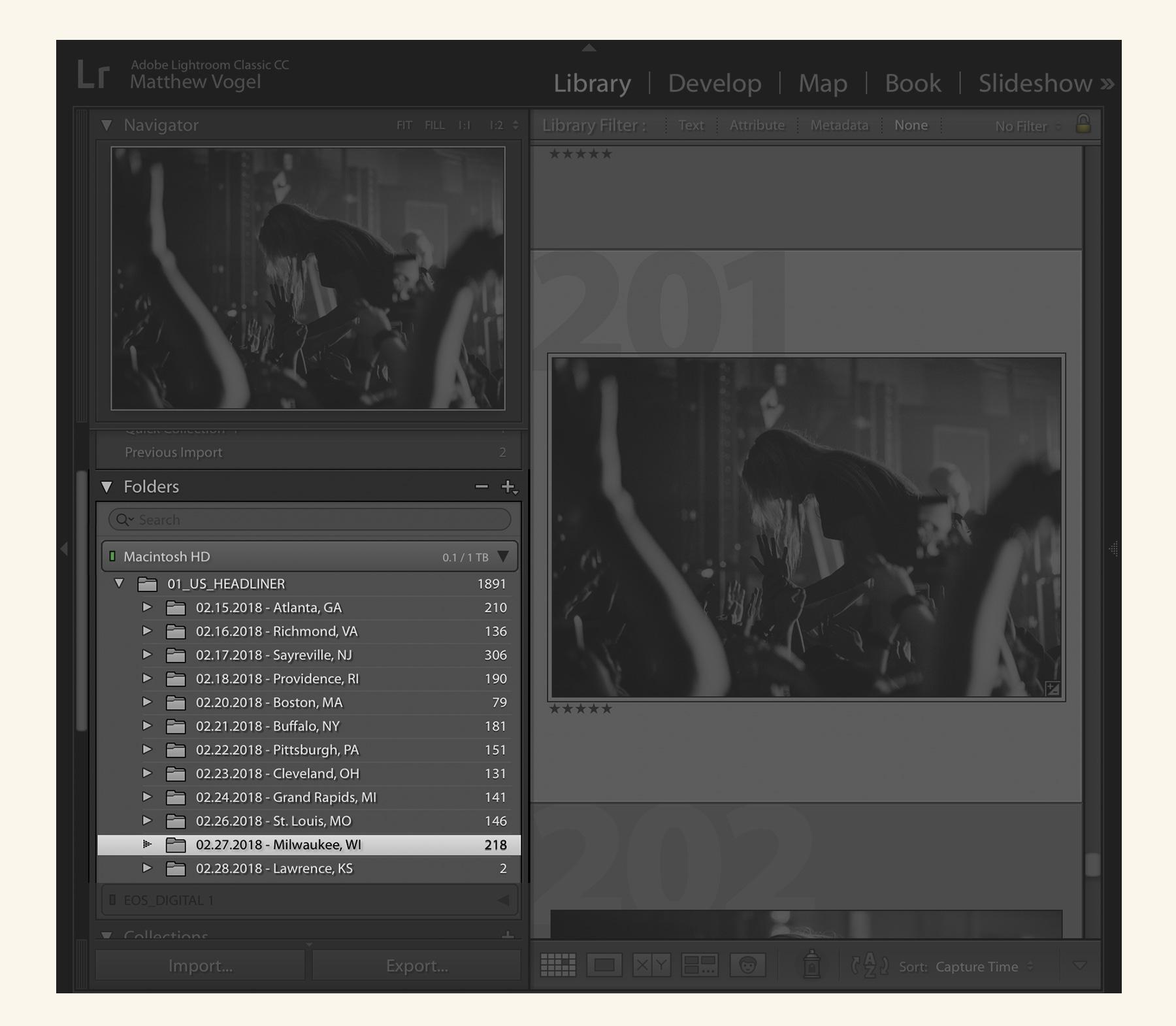 Lightroom — Folders