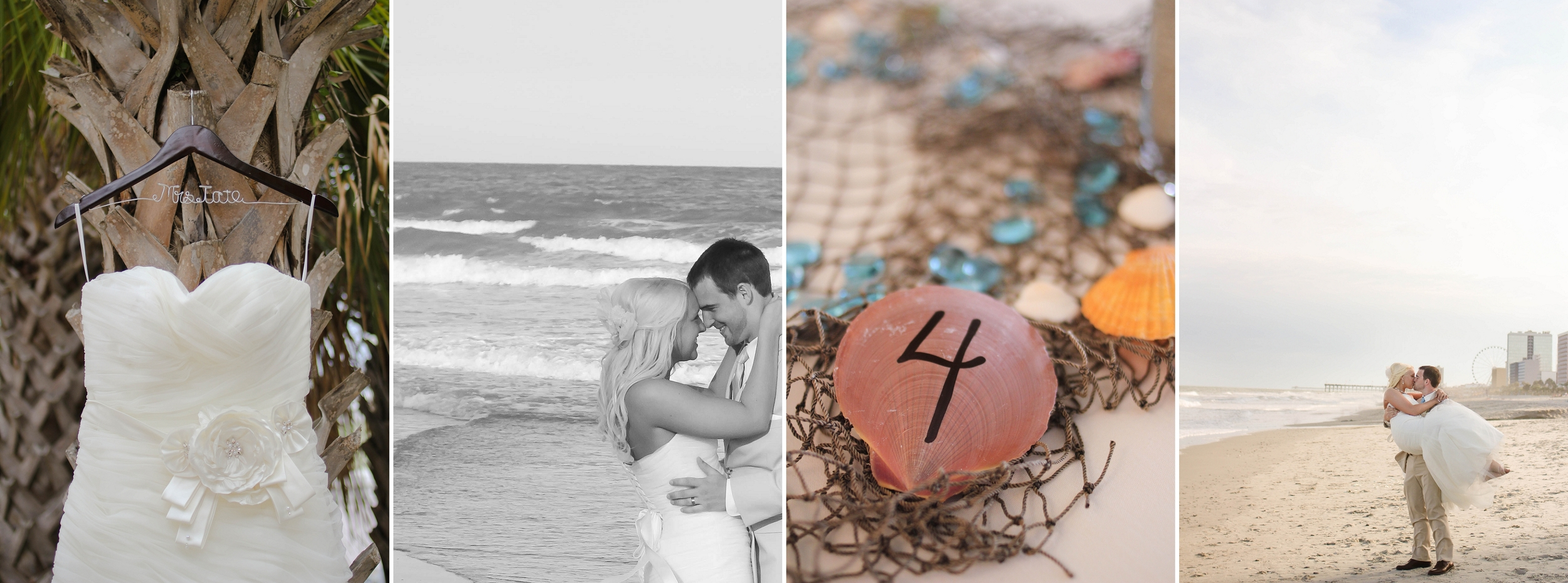 Daniel and Taylor Tate's summer wedding in Myrtle Beach, South Carolina!