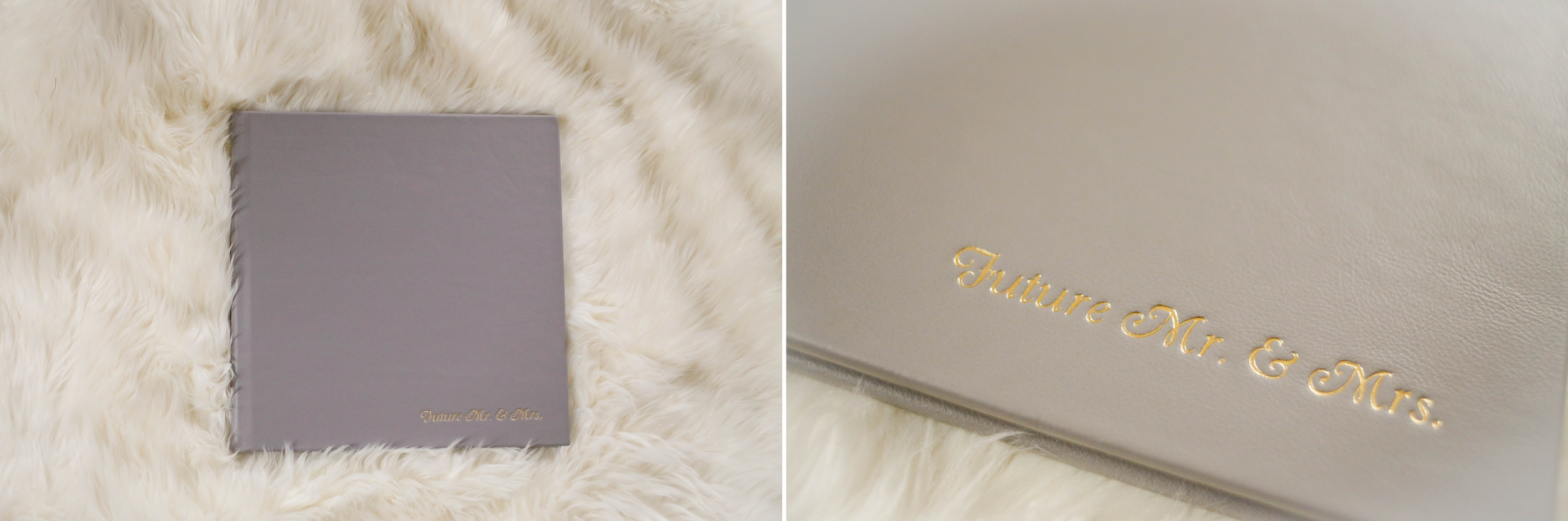 Gray leather album.  All albums can have custom engraving  on them.