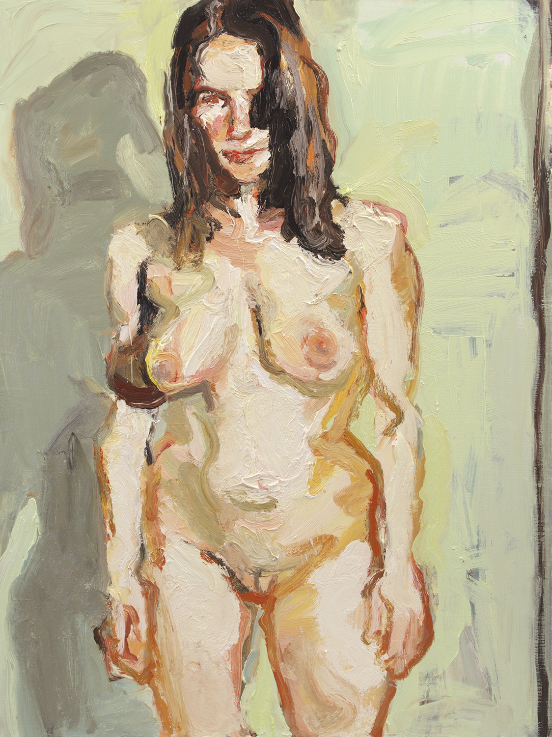 STANDING NUDE 2011 oil on linen 101.5 x 76.2cm