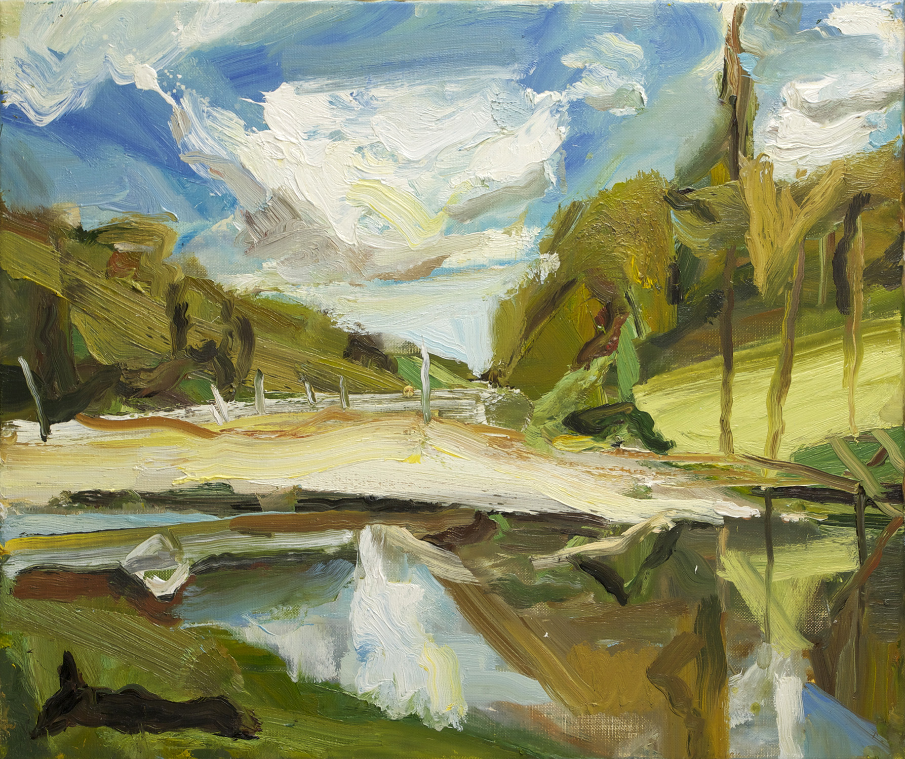 RIVER AT HILL END 2014 oil on linen 56 x 66cm