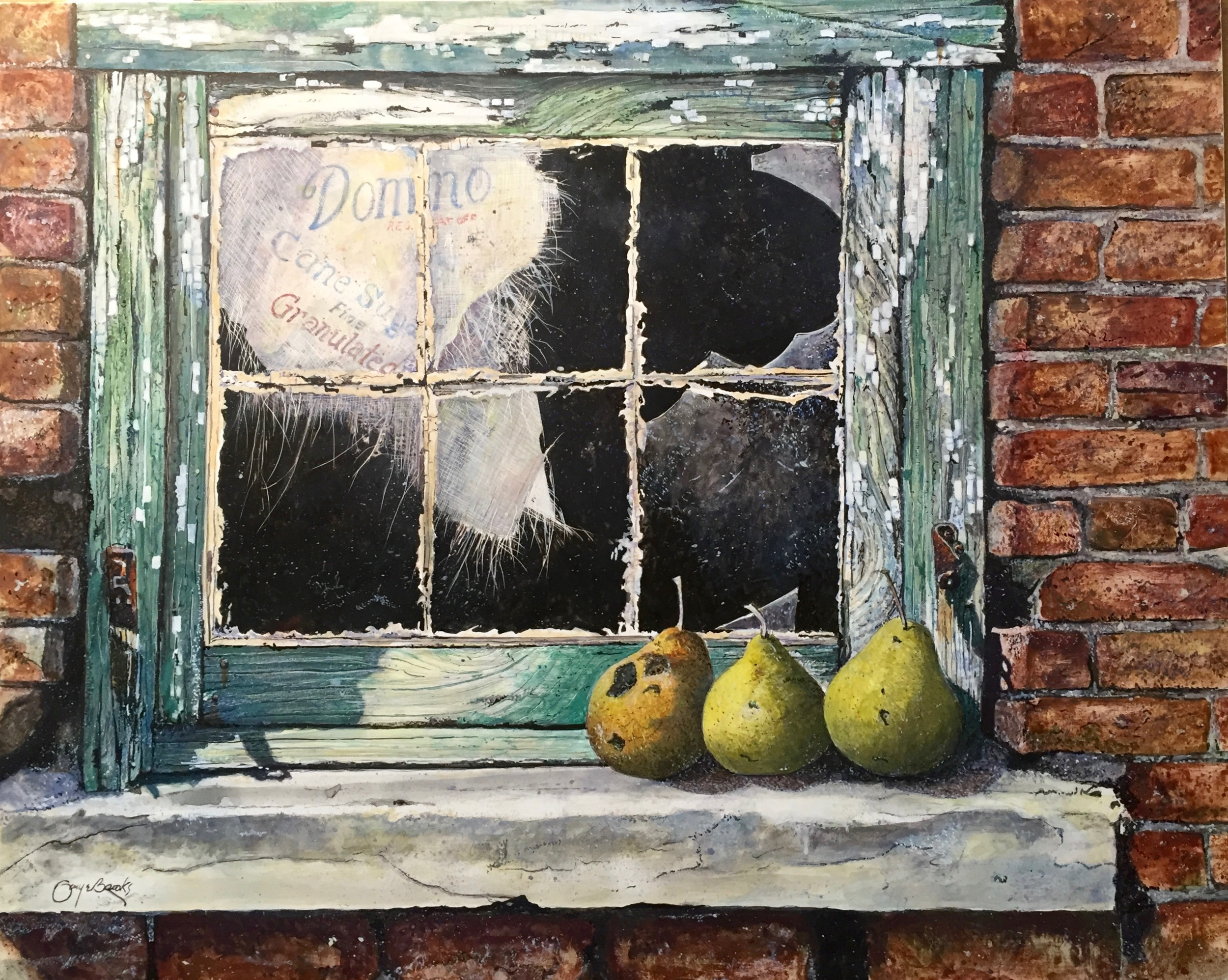"""Pears on Sill"""