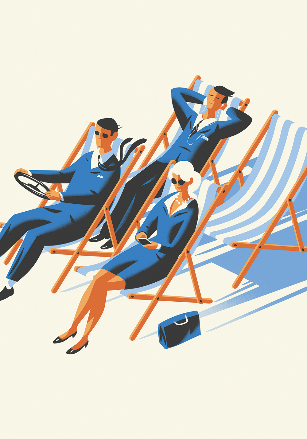 Driving Deckchairs deco poster illustration-Dean Gorissen.jpg.jpg