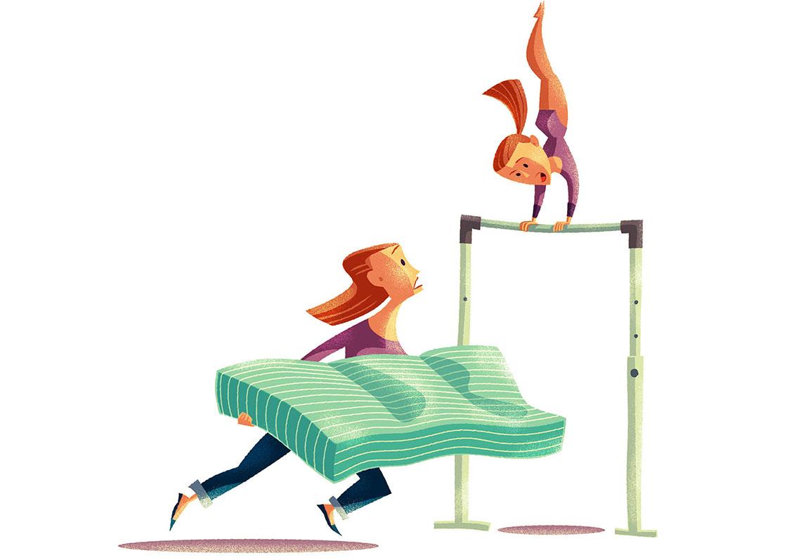Gymnastics Mum.