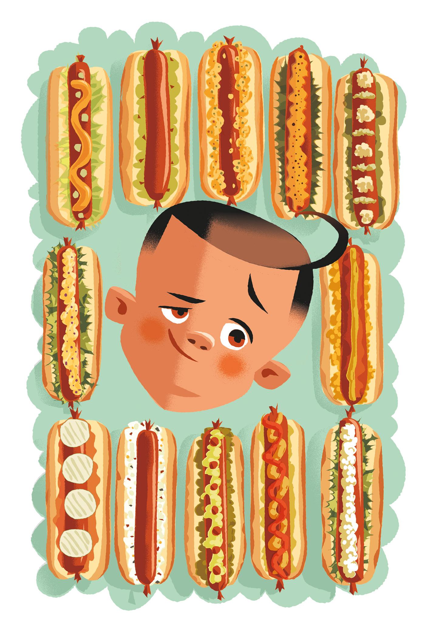 Gourmet Hot Dogs-Dean Gorissen Illustration .jpg