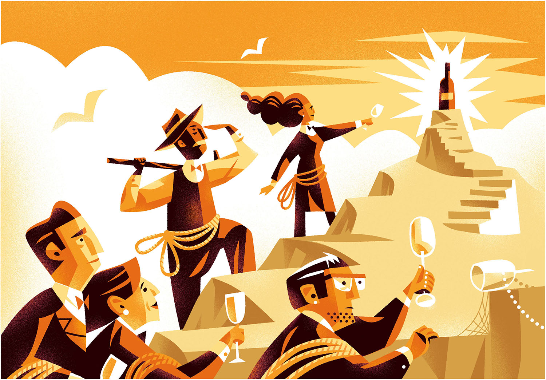 Mountain climbing sommeliers illustration-Dean Gorissen.jpg