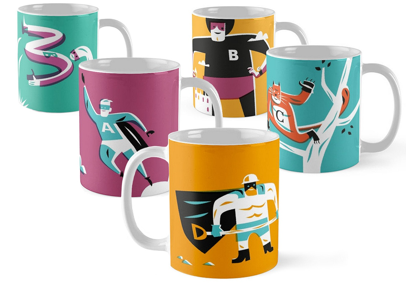 Super Coffee Mugs-Dean Gorissen Illustration.jpg