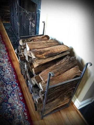 Firewood rack (blacksmith/forged)