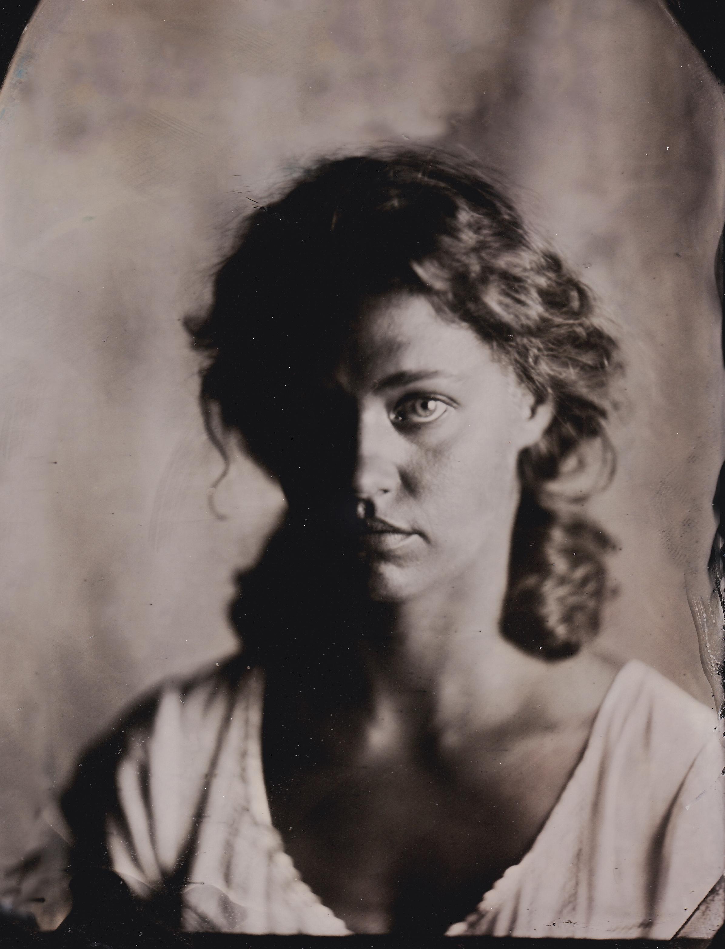 Portrait: Leah  4x6 Tintype  Three Graces Studio  May 2016