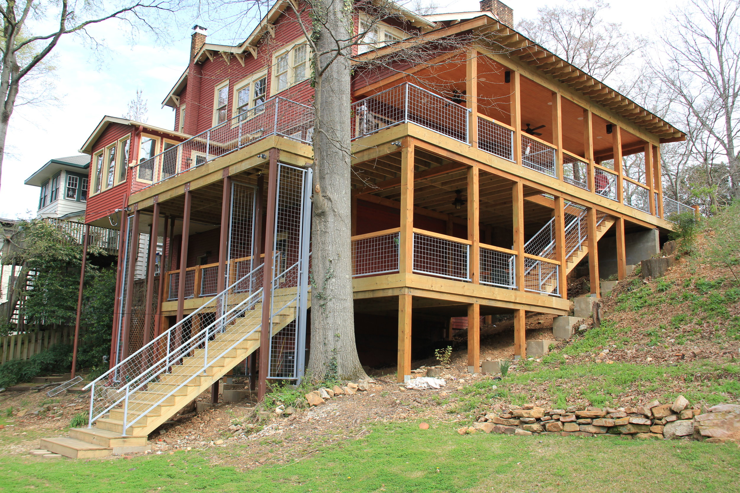 Handrails and Steel beams