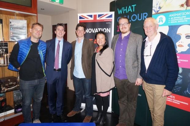 At the #startupbyron pitch session. L-R: Dan Swan (StartInno), Craig O'Kane (UKTI), Andrew Corbett-Jones (GEP), Chau Duncan (UKTI), Saadi Allen (Honey Flow), Paul McKey (author and mentor)