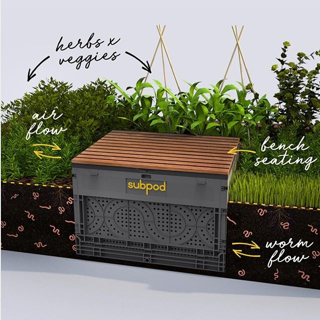 Subpod is the ultimate in garden compost system! Worms and microbes do the hard work with no smells or mess! Your plants will love it.  Learn More: http://rcl.ink/l8k #growfood #compost #subpod