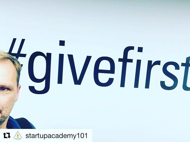 G I V E F I R S T ... Not Thursday but this little throwback reminds us the importance of putting the ecosystem of entrepreneurs first #givefirst @techstars @startupweekend @startup_catalyst @drdanswan @startupaus