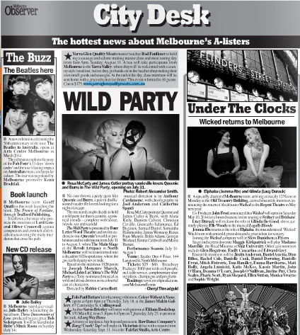 The Wild Party in the Melbourne Observer.