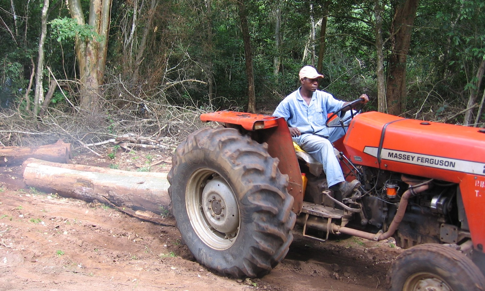 Extraction using small agricultural tractors to minimise impact