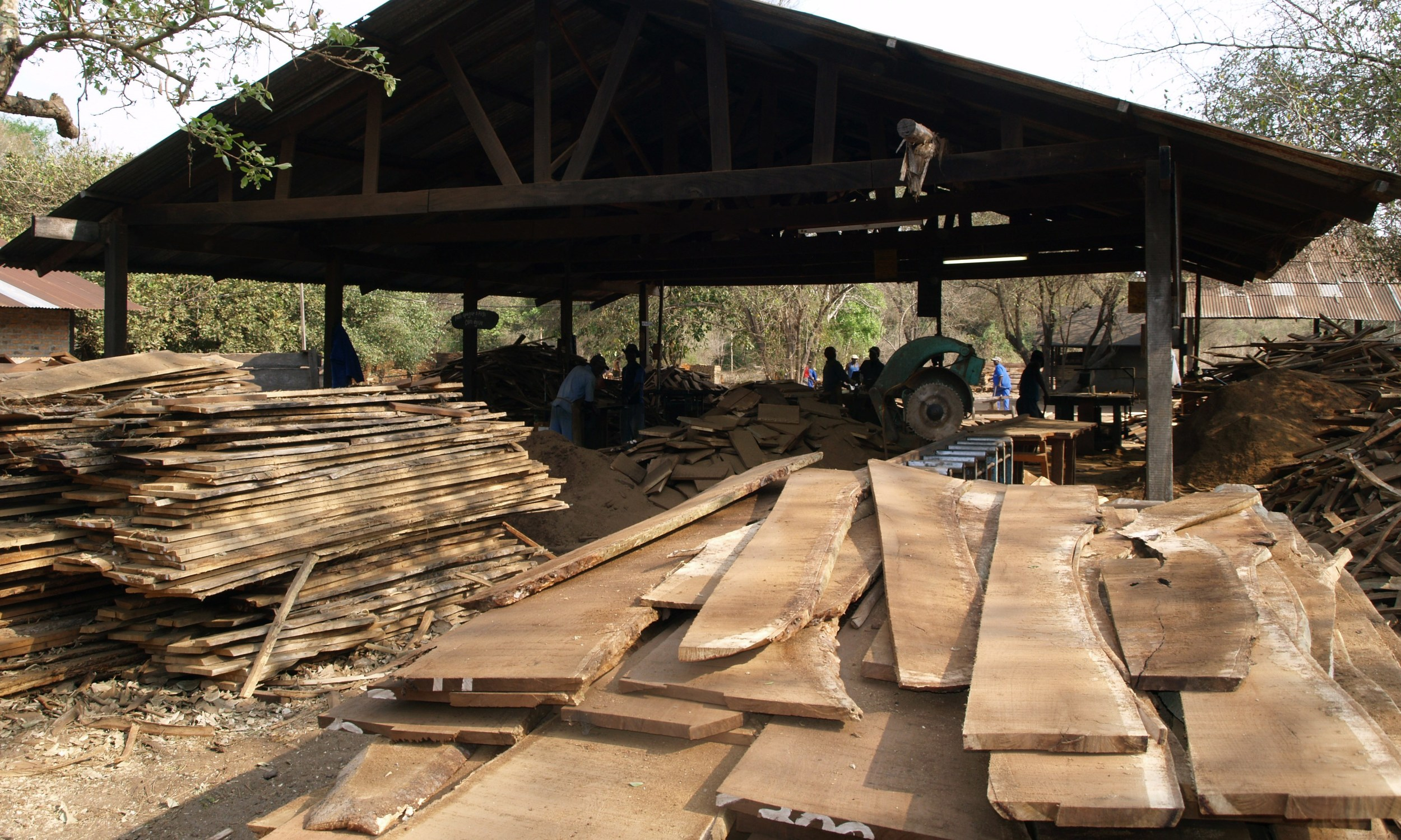 Processing section prior to kilning