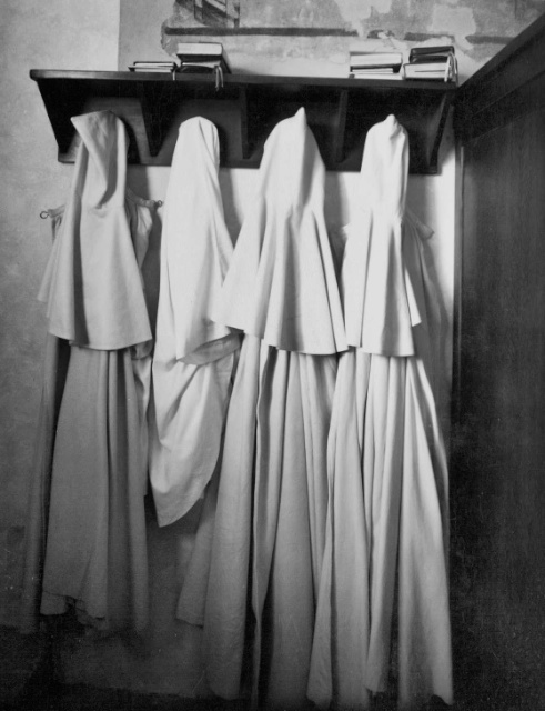 Original Image taken of Monks' Robes in Sant'Antimo Abbey, Italy