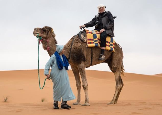 Ron & his traditional transportationin Morocco.