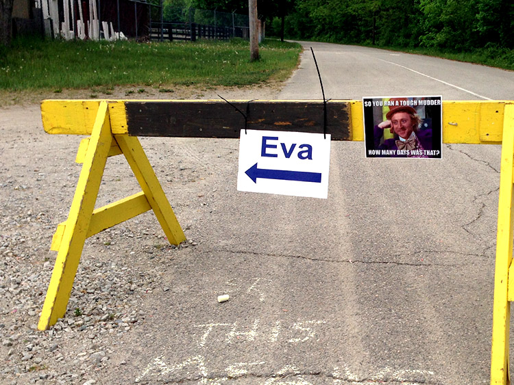 Apparently, this woman named Eva had missed this turn three times last year...