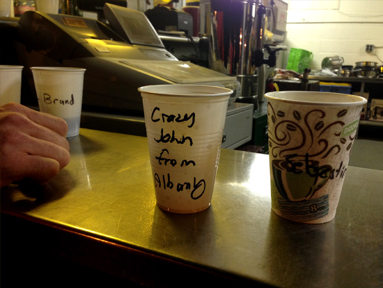 Putting your name on your cup is the best idea ever. Less garbage, happy runners.