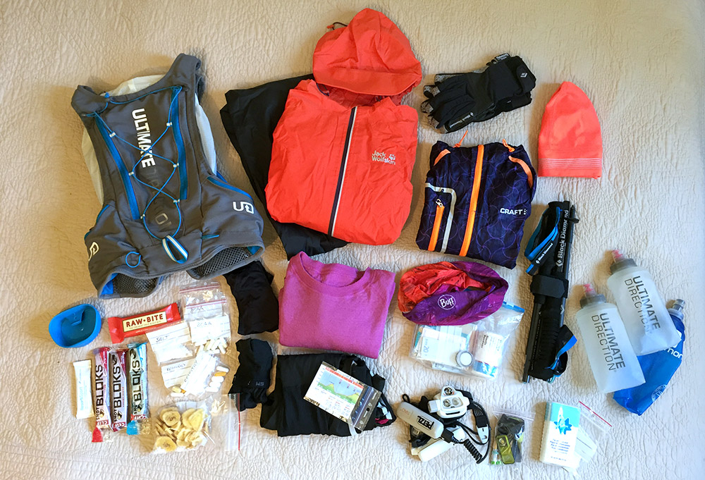 All of the stuff that's inside the race vest!