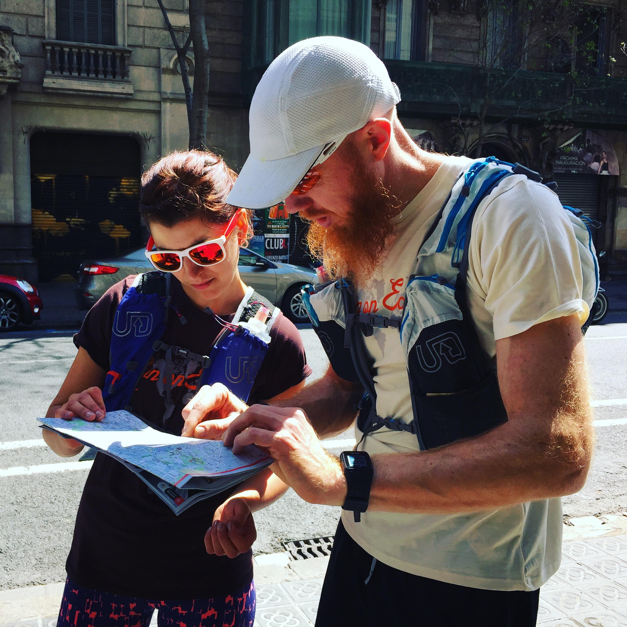 Vi började med att utforska Barcelona!