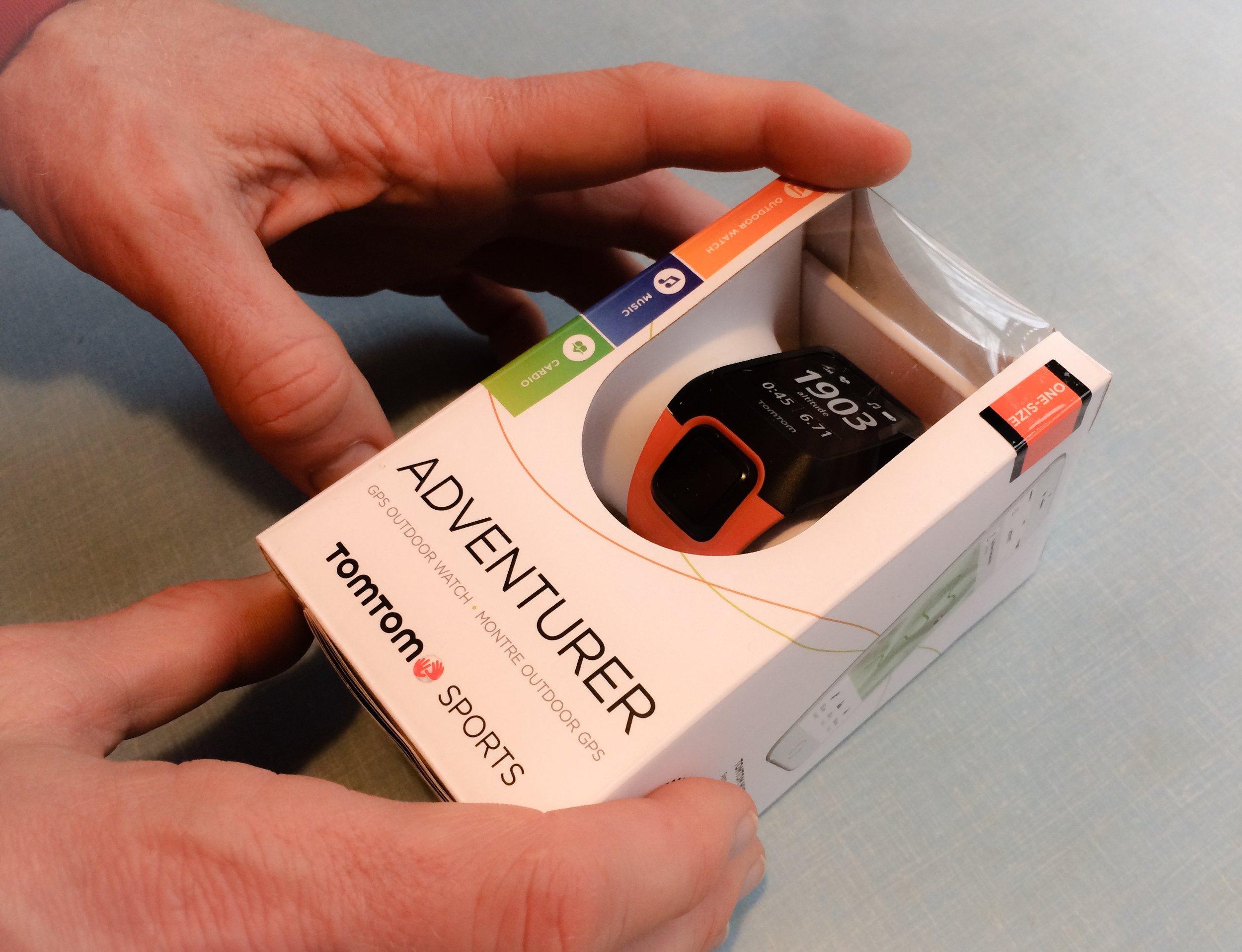 Adventurer. Puls- och GPS-klocka från TomTom. Pulsen mäts direkt på handleden.