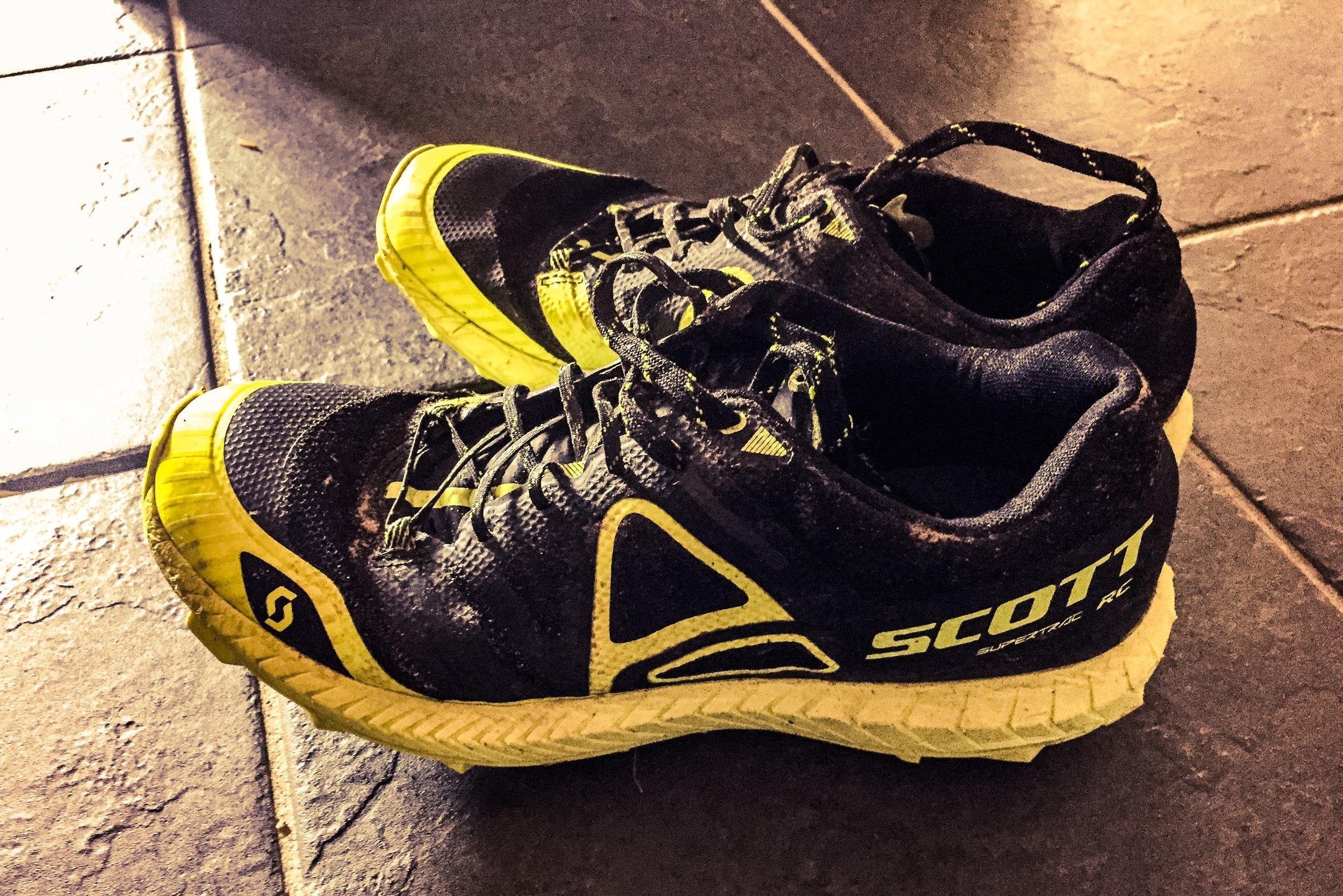 Vinnarskorna från Ultravasan 90! Tydligen blev skorna så här rena och fina av att springa genom alla vattenpölar under loppet :)